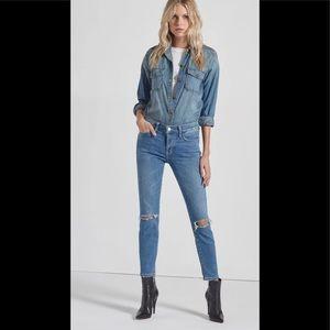 CURRENT/ELLIOTT 33 stiletto 2year destroyed jeans